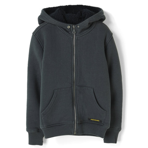 HOOPER Ash Black -  Knitted Zipped Hoody 1