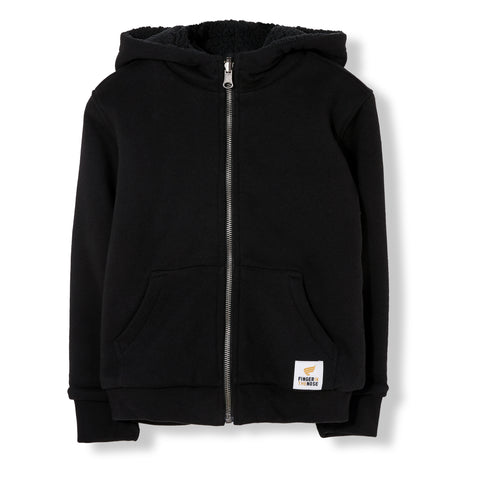 HOOPER Black - Reversible Zip Hoody 1