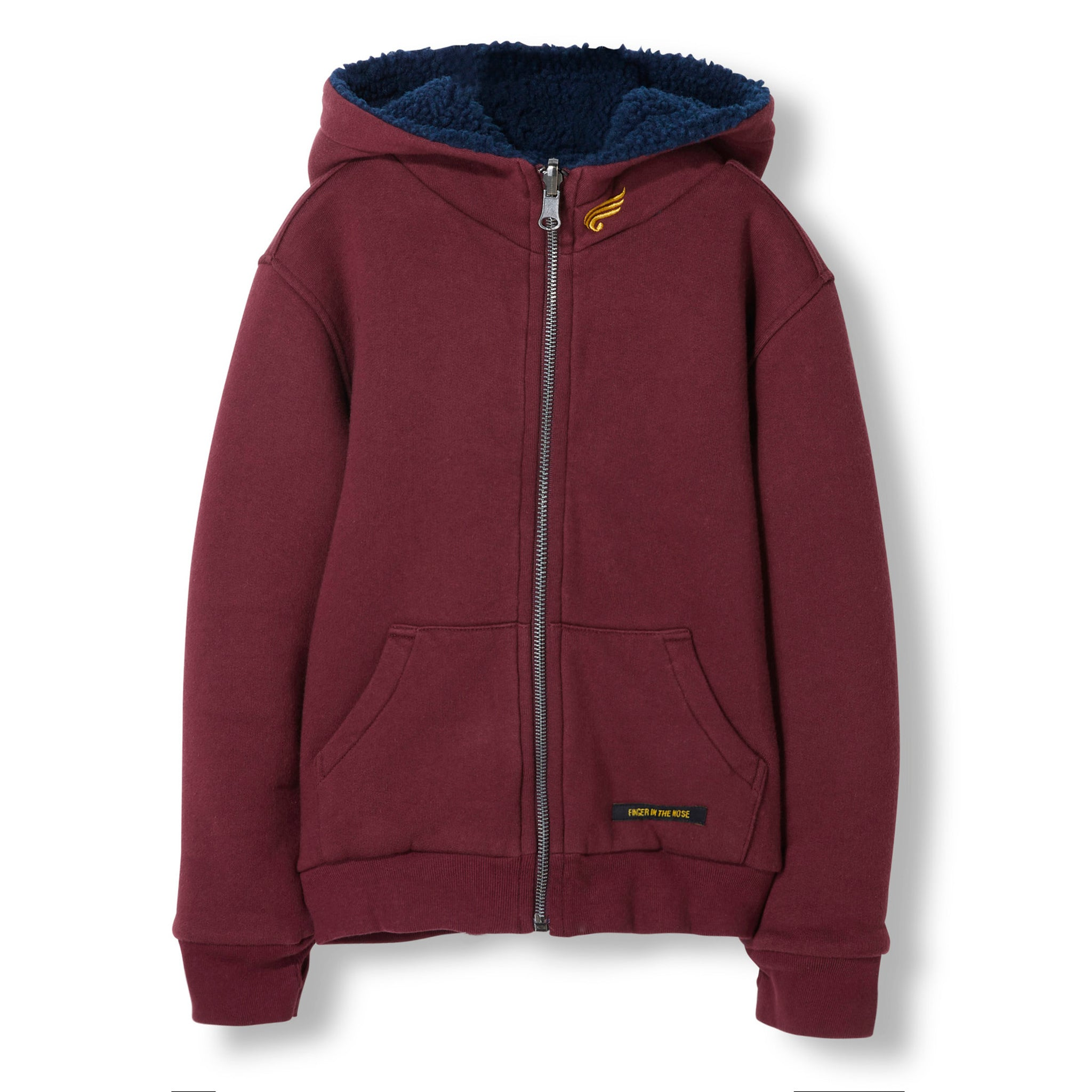 HOOPER Burgundy Reversible -  Knitted Zipped Hoody 1