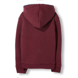 HOOPER Burgundy Reversible -  Knitted Zipped Hoody 2