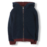HOOPER Burgundy Reversible -  Knitted Zipped Hoody 3