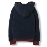 HOOPER Burgundy Reversible -  Knitted Zipped Hoody 4