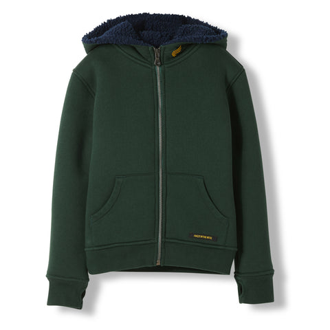 HOOPER College Green -  Knitted Zipped Hoody