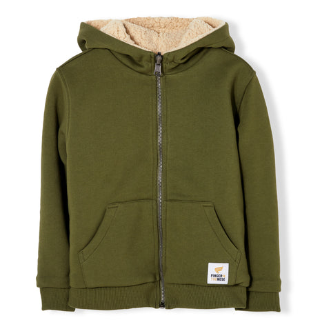 HOOPER Dark Khaki - Reversible Zip Hoody 1