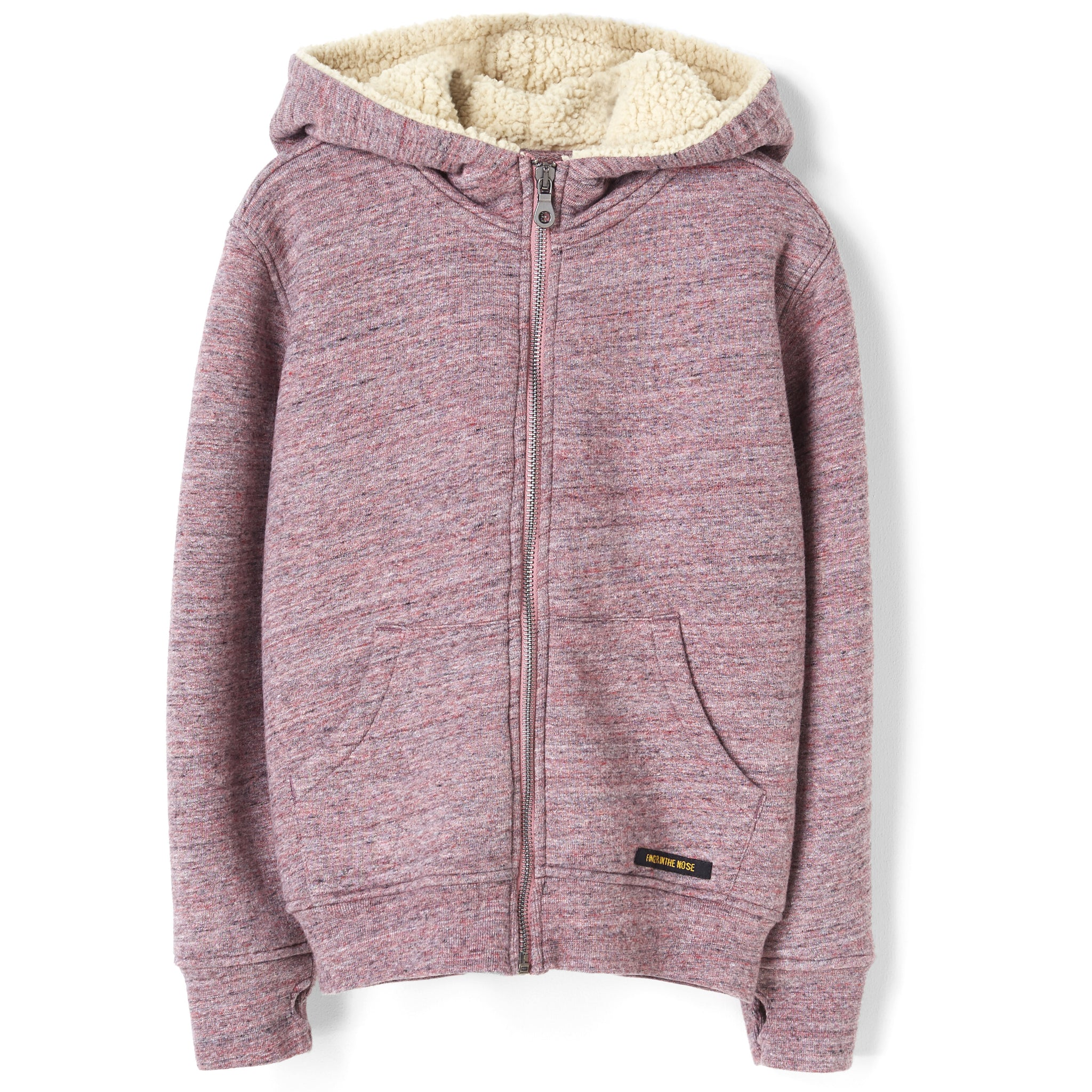 HOOPER Heather Pink - Zipped  Hoodie