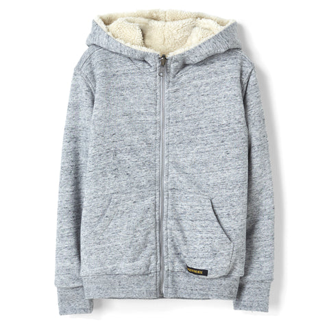 HOOPER Heather Grey Reversible (Rib) - Zipped  Hoodie