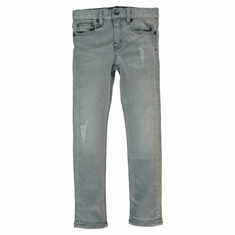 ICON Grey Denim repaired - Slim Fit Jeans