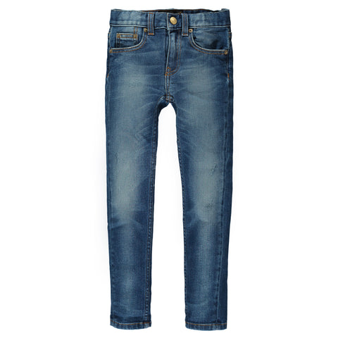 ICON Dirty Blue - Unisex 5-Pocket Slim Fit Jean