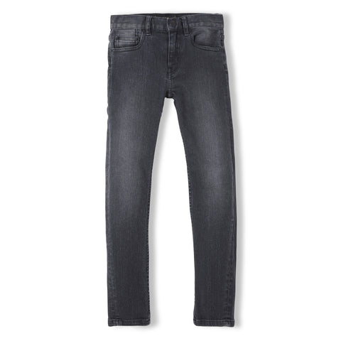 ICON Black Denim - Unisex Woven 5 Pocket Slim Fit Jeans 1