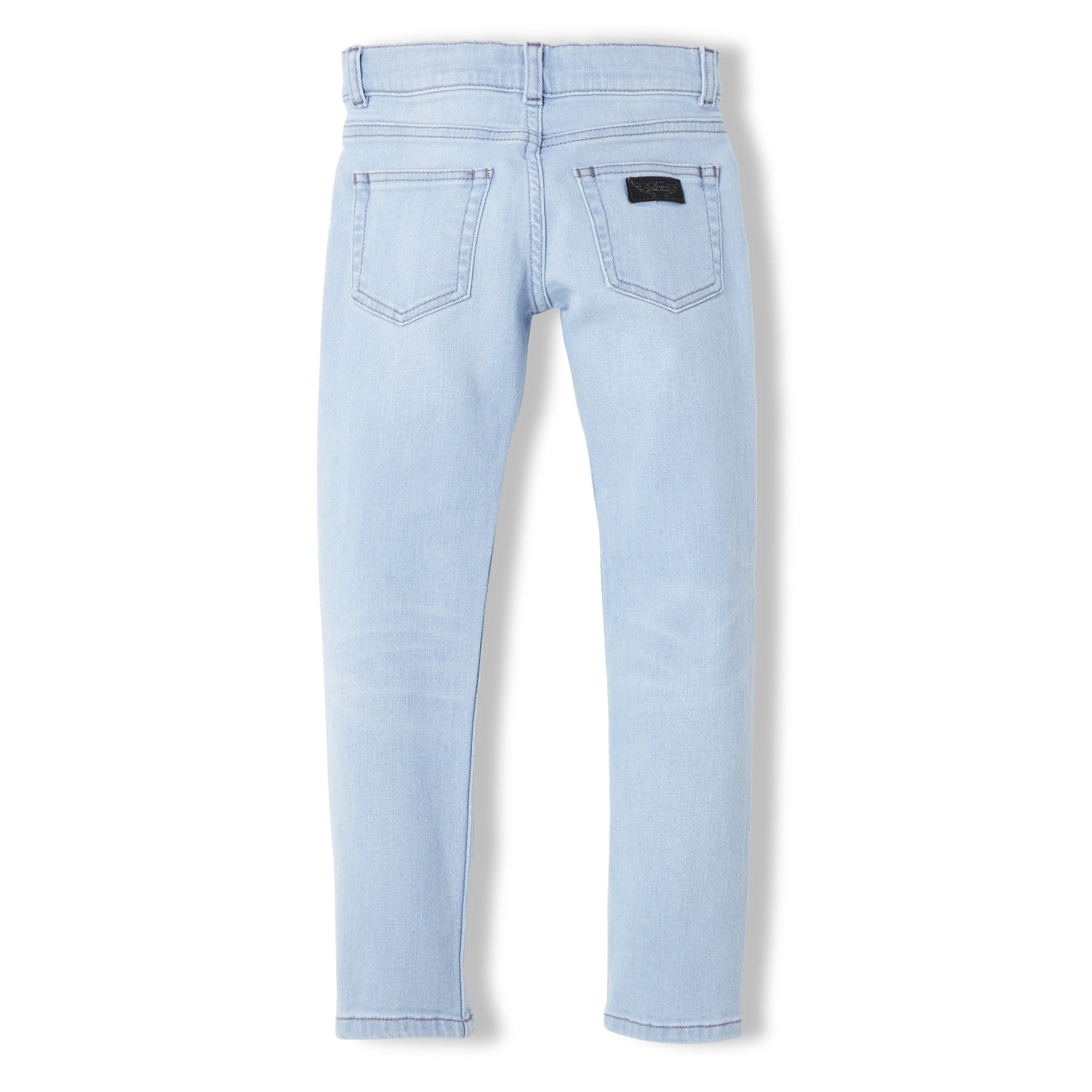 ICON Bleached Blue - Unisex Woven 5 Pocket Slim Fit Jeans 2