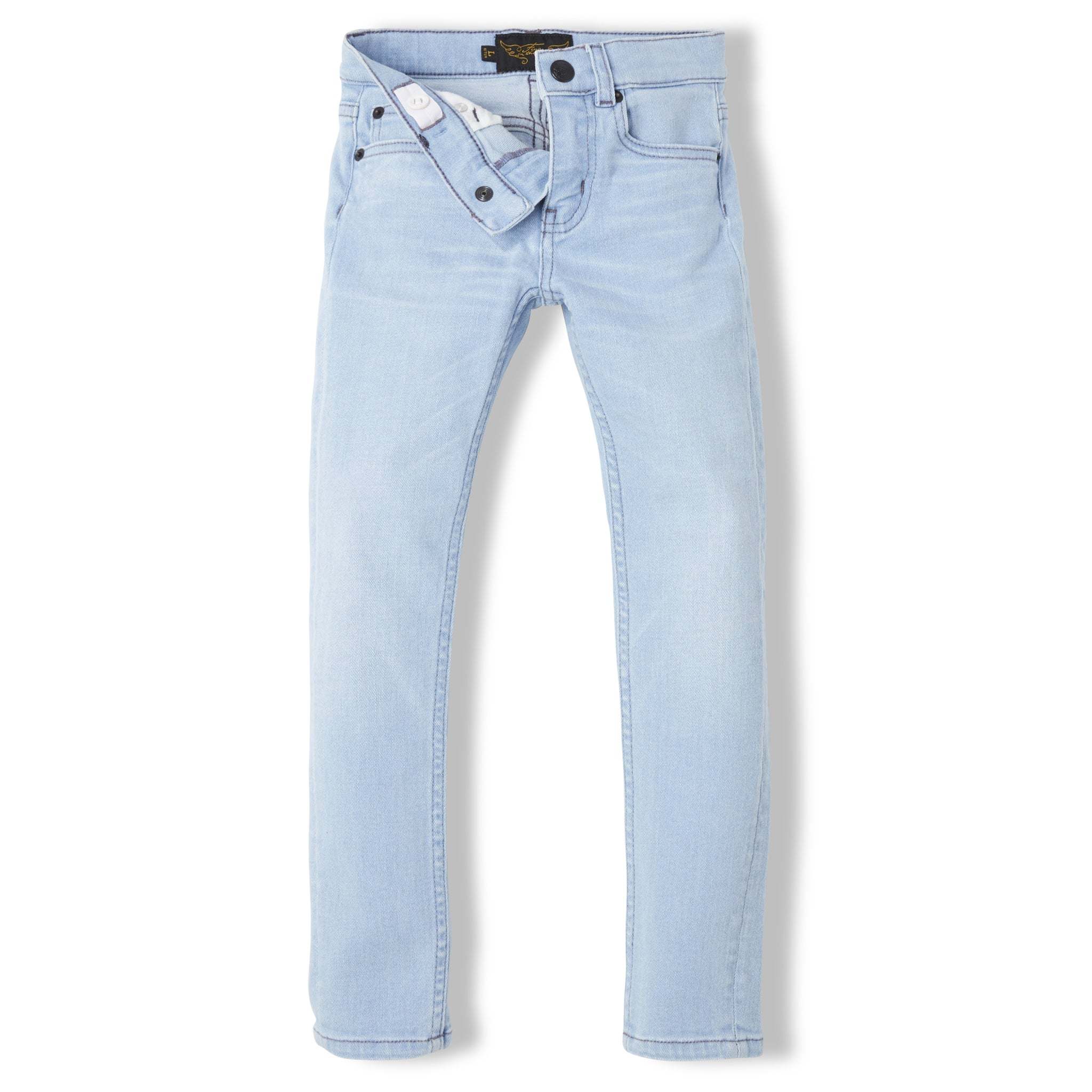 ICON Bleached Blue - Unisex Woven 5 Pocket Slim Fit Jeans 3