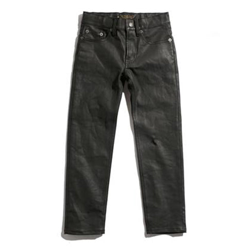 ICON leather black - Slim Fit Jeans