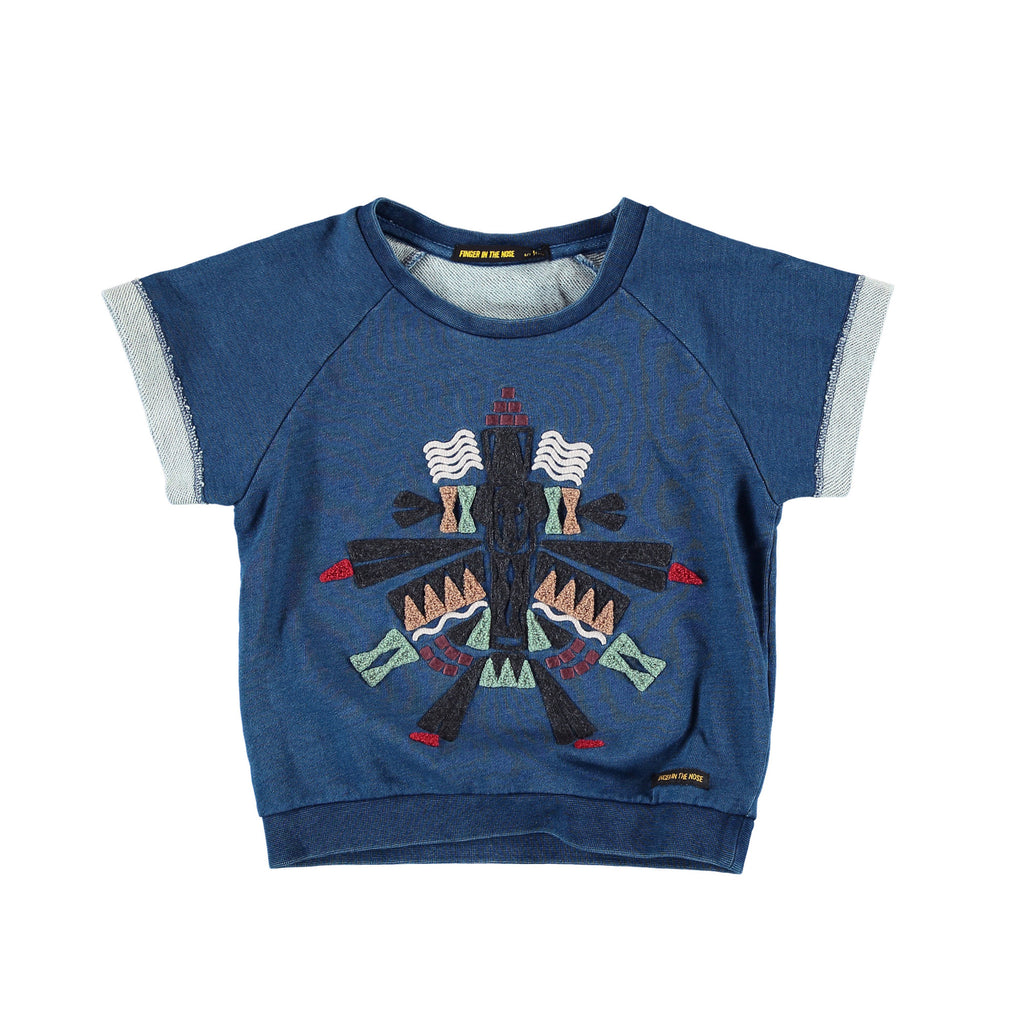 ILENA Indigo Totem - Girl Short Sleeves Sweatshirt