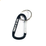 Black Carabiner Keychain - by Finger In The Nose