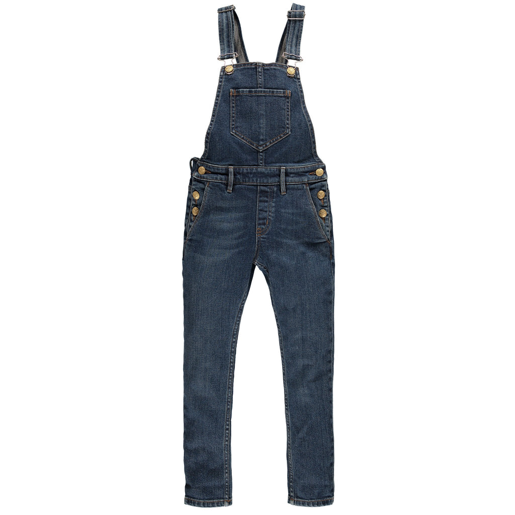 INES Dirty Blue - Girls Denim Overall