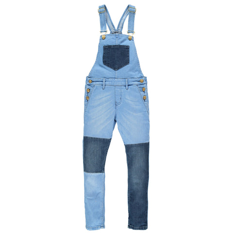 INES Glow Denim Patched - Girl Denim Overall