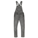INES Grey Denim Repaired - Girl Denim Overall