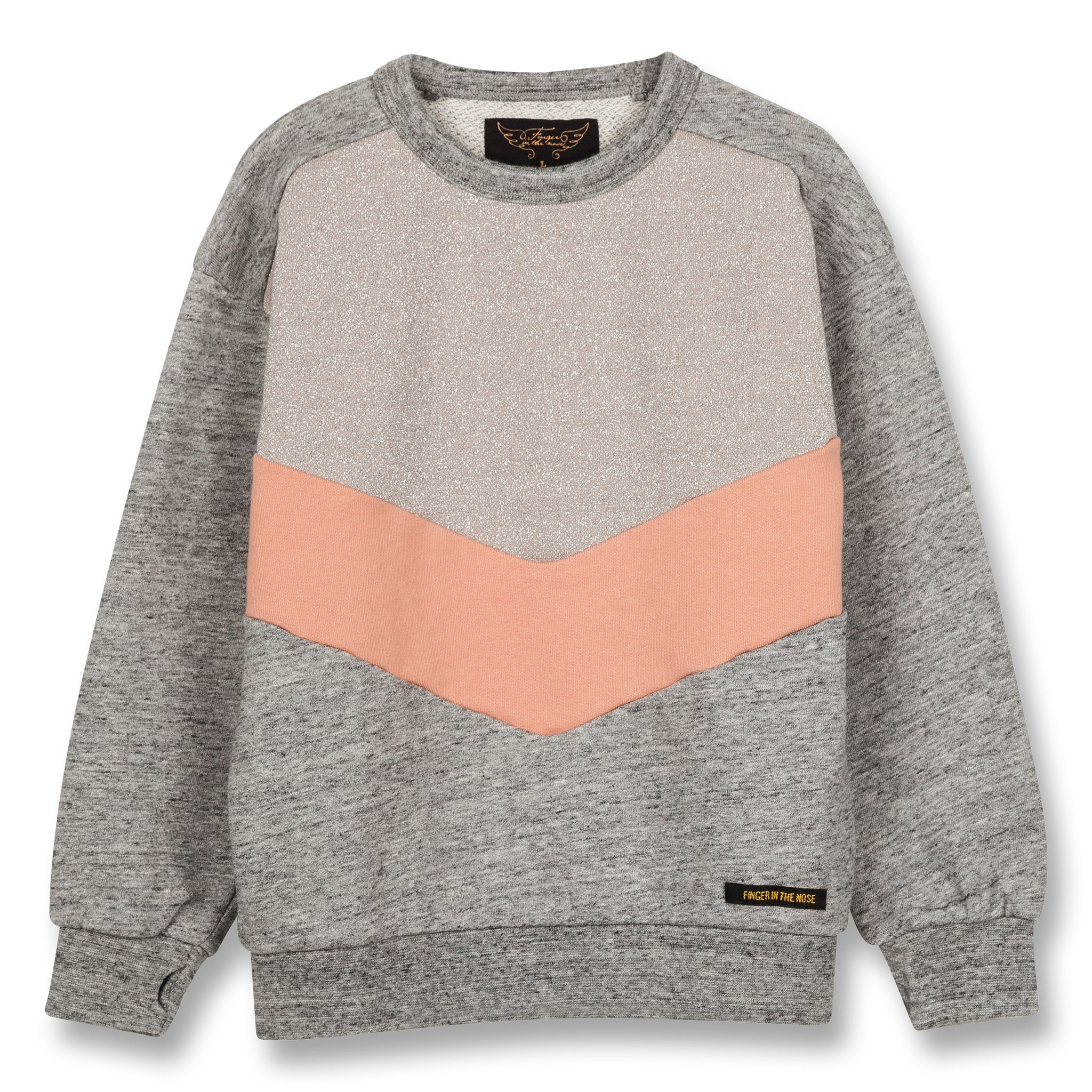 JECKY Heather Grey Colorblock - Crew Neck Sweatshirt 1