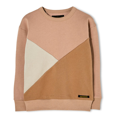 JECKY Powder Pink - Colorblock Sweater 1