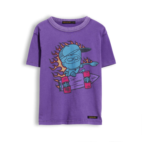 KID Purple Go Skate -  Short Sleeve Tee-Shirt