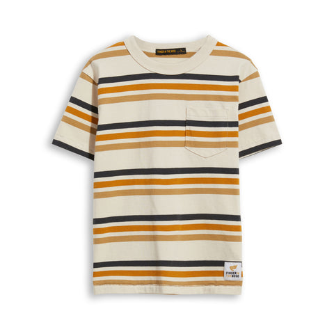 KID Sand Stripes -  Short Sleevess Tee-Shirt 1