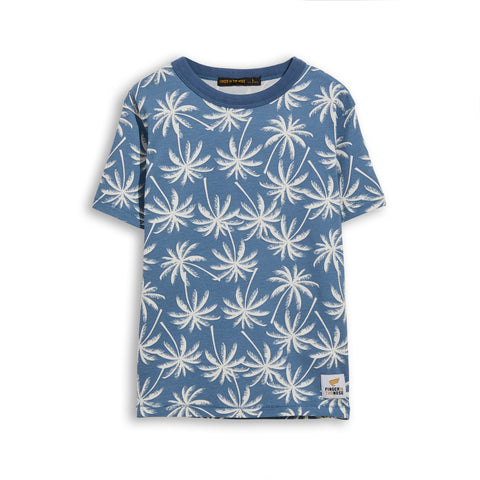KID Stone Blue Palms -  Short Sleeve Tee-Shirt