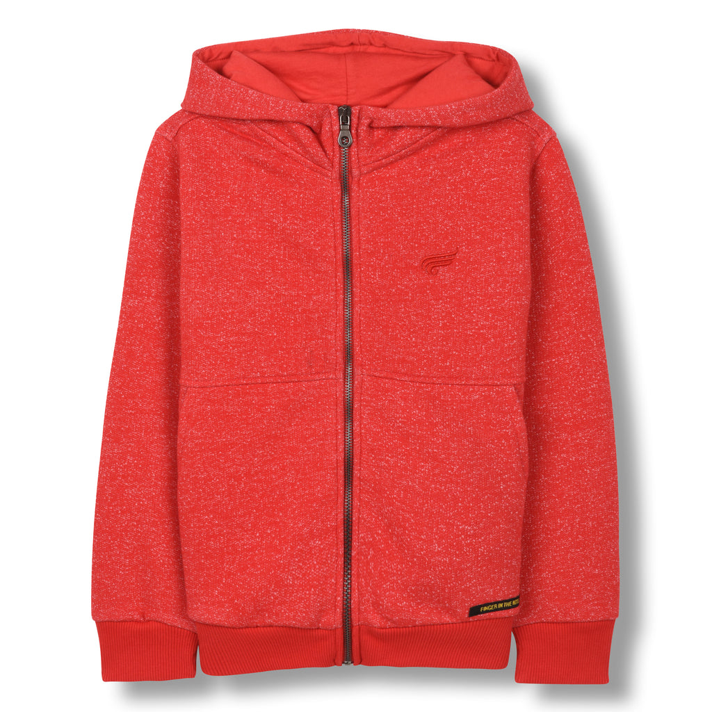 KINGDOM Heather Red -Zipped Hoodie