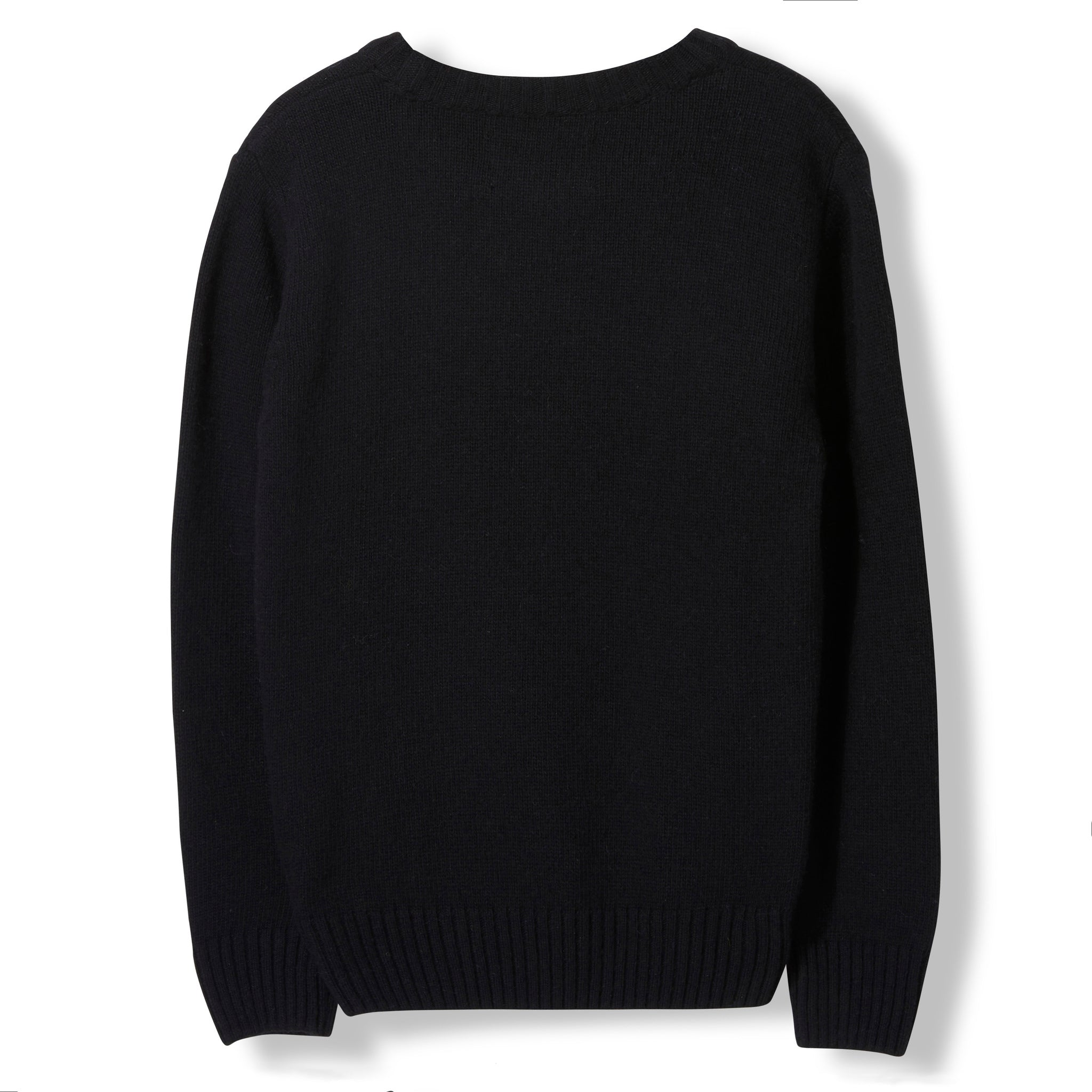 KRIS Black Ghost Skate -  Heavy Knitted Round Neck Jumper 2