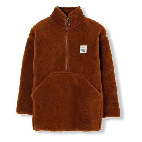 LAZYBEAR Rust - Oversized Sherpa Sweater 1