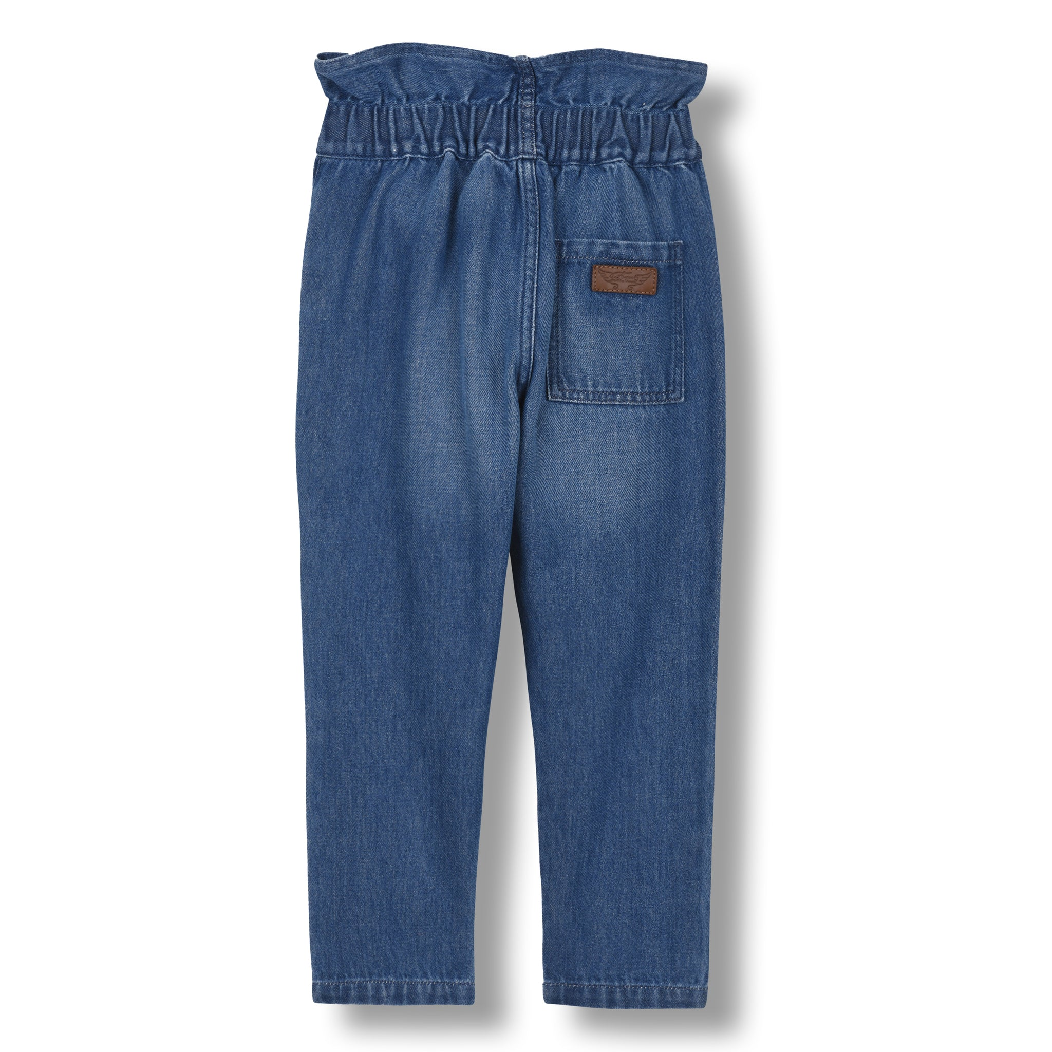LIZZY Medium Blue - Elasticated Paper Bag Pant 2