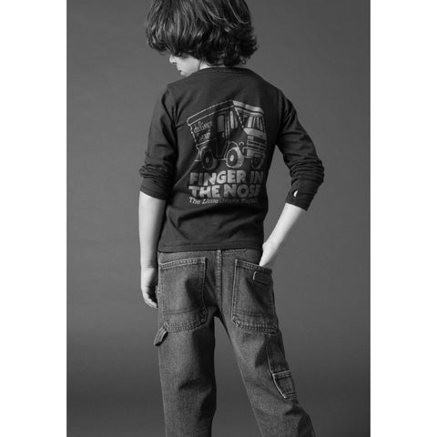 LONGJOHN Ash Black Little Company -  Knitted Long Sleeve Jersey T-Shirt 2