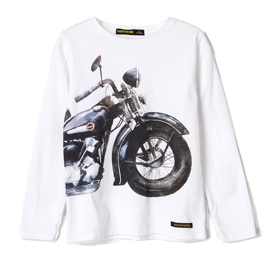 LONGJOHN Chalk White Iron Horse - Long Sleeves T-shirt