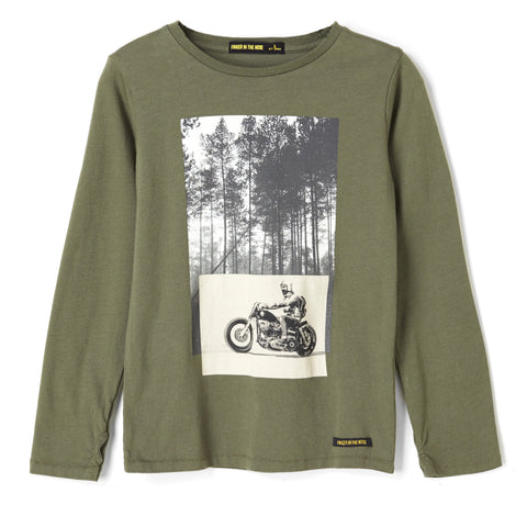 LONGJOHN City Khaki Forest Road - Long Sleeves T-shirt