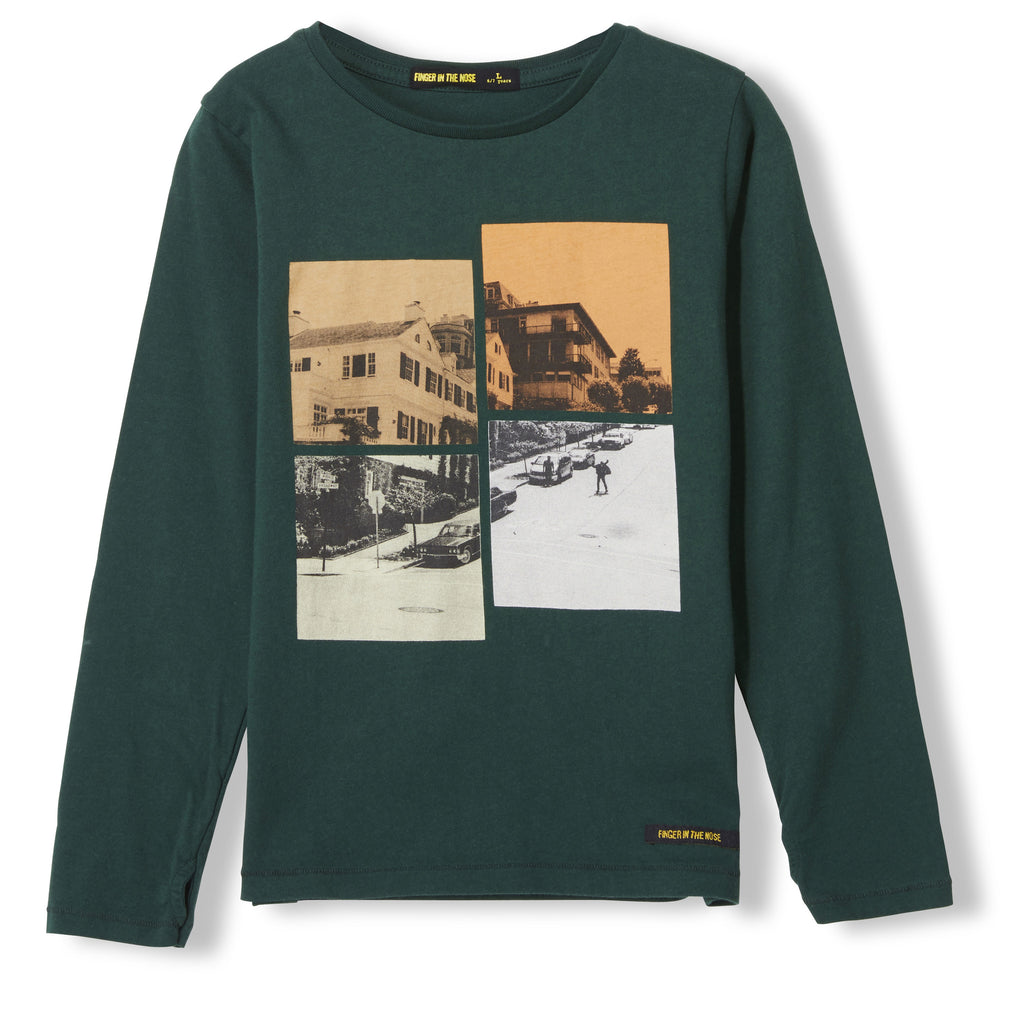 LONGJOHN College Green Puzzle -  Knitted Long Sleeve Jersey T-shirt 1