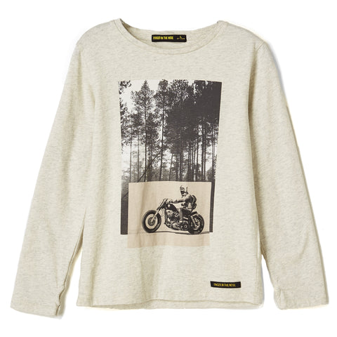LONGJOHN Heather Ecru Forest Road - Long Sleeves T-shirt