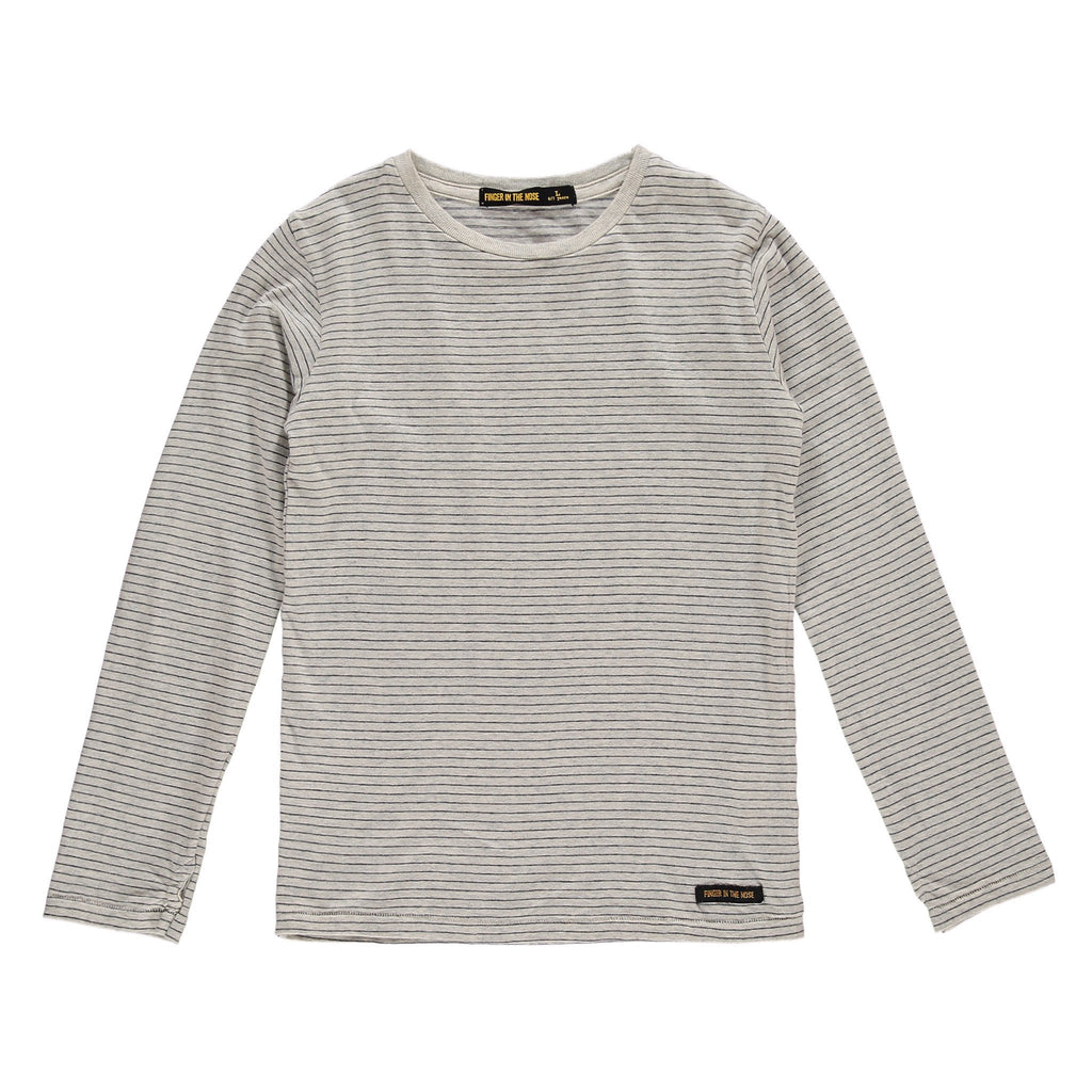 LONGJOHN Heather Ecru Stripes - Boys Knitted Long Sleeves T-Shirt