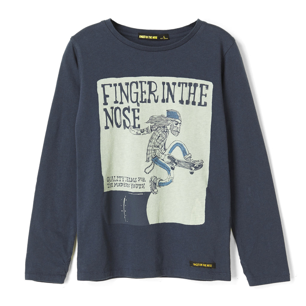 LONGJOHN Night Blue Folk Skate - Long Sleeves T-shirt