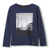 LONGJOHN Night Blue Free Skate -  Knitted Long Sleeve Jersey T-shirt 1