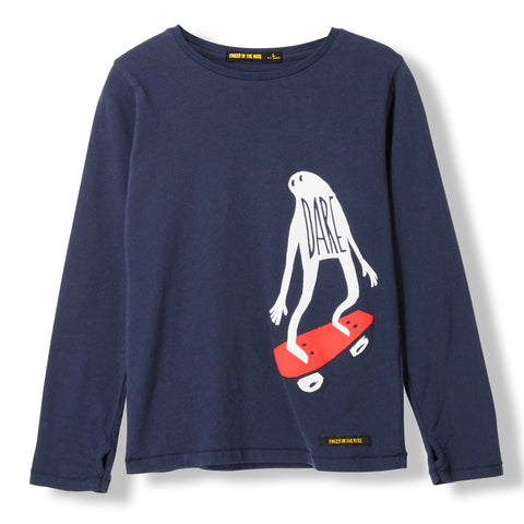 LONGJOHN Night Blue Ghost Skate -  Knitted Long Sleeve Jersey T-shirt 1