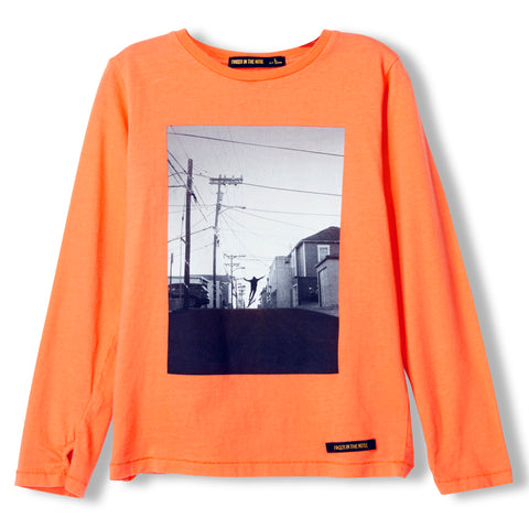 LONGJOHN Orange Free Skate -  Knitted Long Sleeve Jersey T-shirt  1