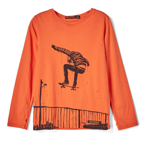 LONGJOHN Orange Ollie - Long Sleeves T-shirt