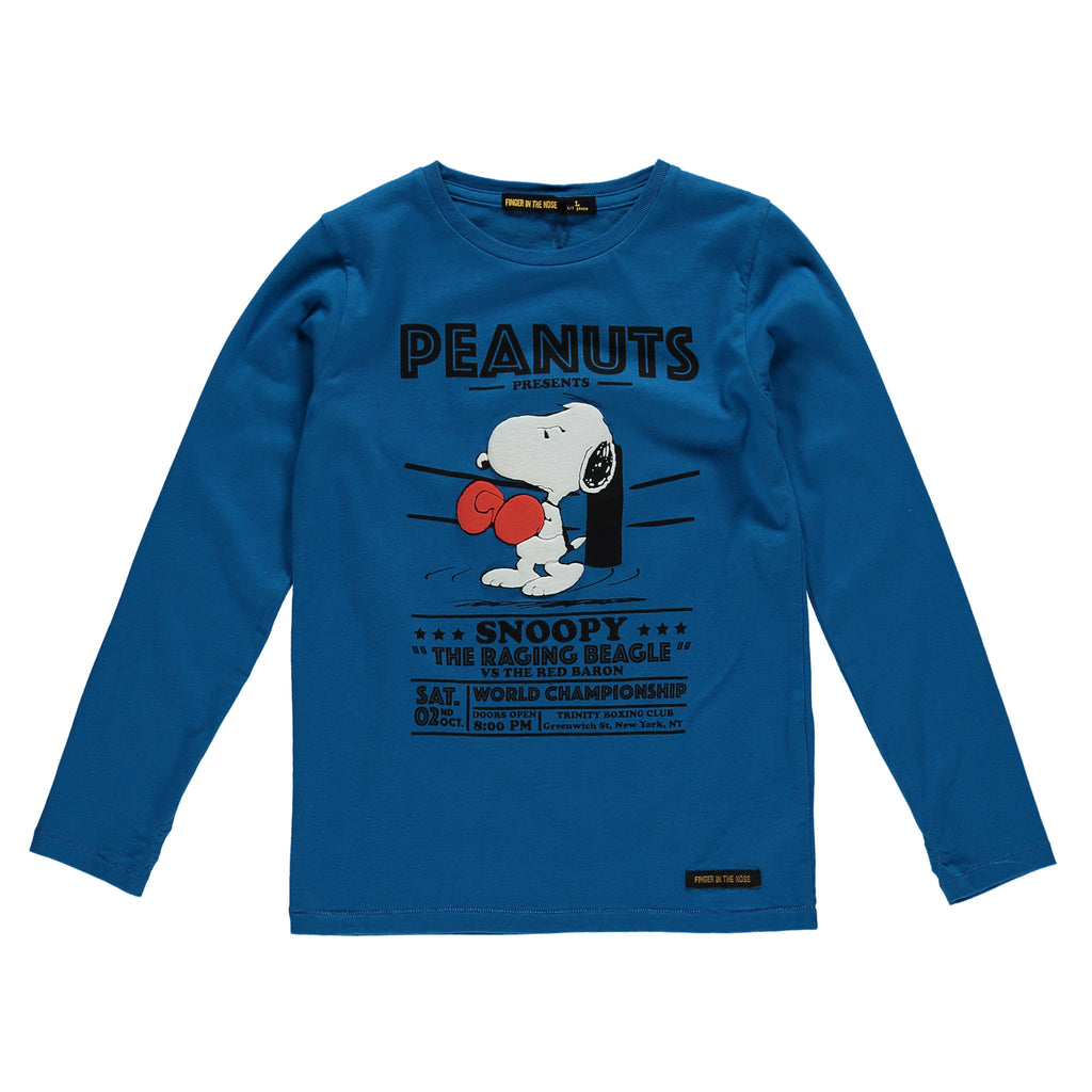 LONGJOHN Peak Blue Boxing - Boys Knitted Long Sleeves T-Shirt