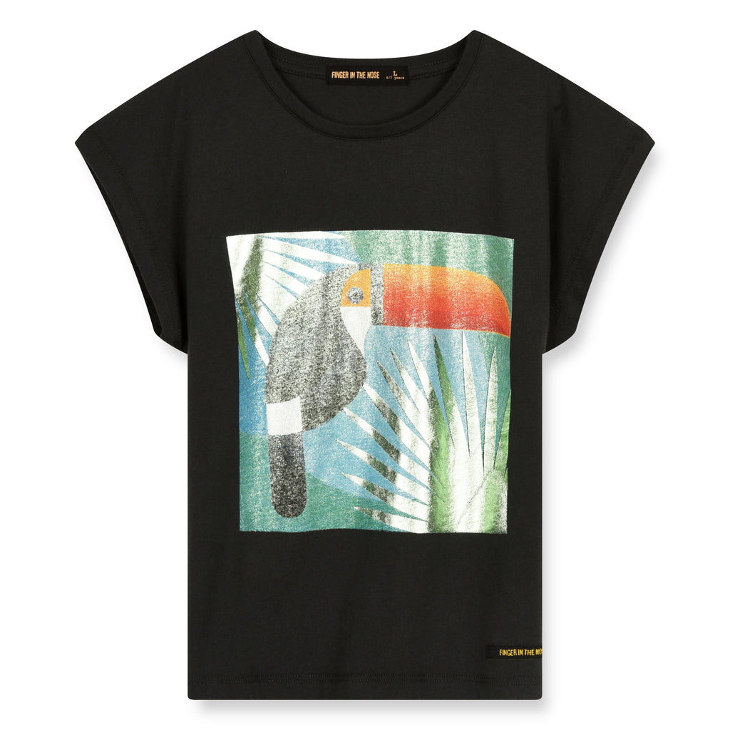 MARSH Ash Black Toucan - Sleeveless T-Shirt 1