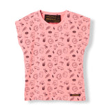 MARSH Milky Pink Simpsons Faces - Girl Knitted Sleeveless T-Shirt 1