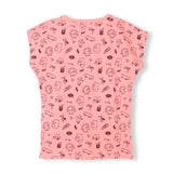 MARSH Milky Pink Simpsons Faces - Girl Knitted Sleeveless T-Shirt 2
