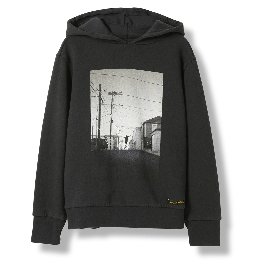MELBOURNE Ash Black Free Skate -  Knitted Hoody 1