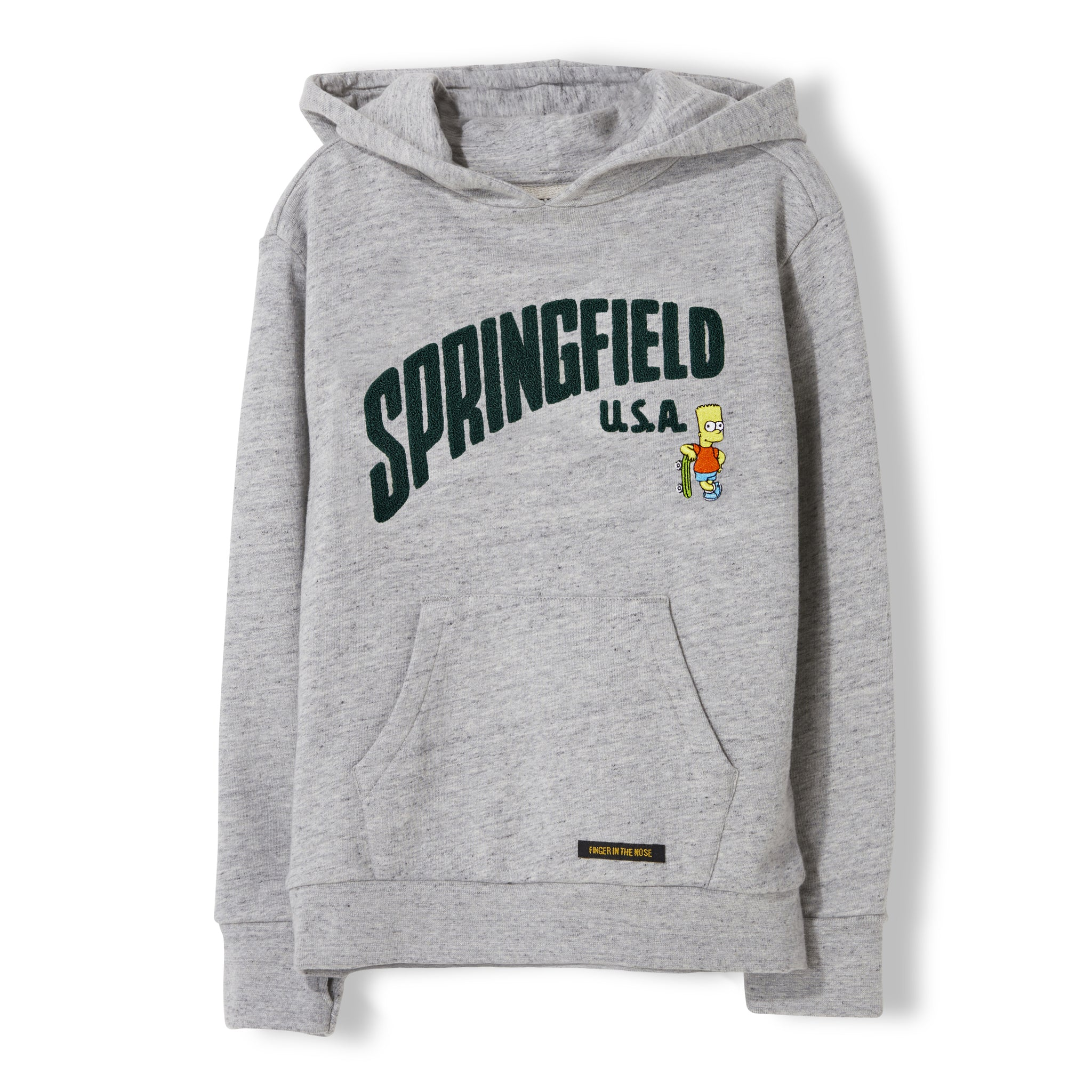 MELBOURNE Heather Cloud Springfield - Unisex Knitted Hoody 1
