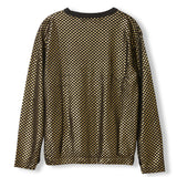 MIKKI Gold Metal Checkers -  Knitted Long Sleeve Jersey T-shirt  2