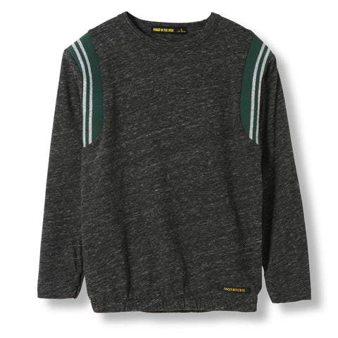 MIKKI Heather Anthracite -  Knitted Long Sleeve Jersey T-shirt  1