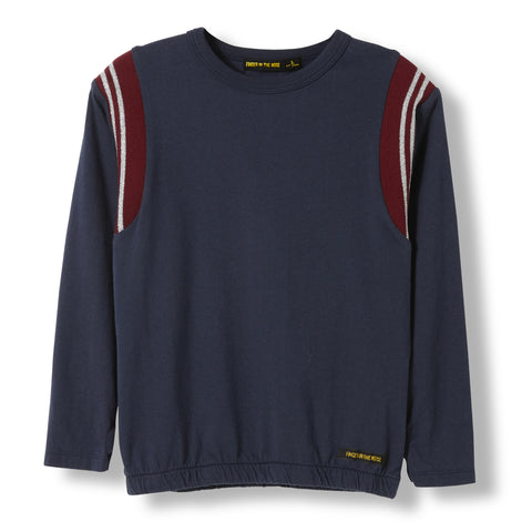 MIKKI Night Blue -  Knitted Long Sleeve Jersey T-shirt  1